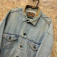 "Vintage Levi Strauss Men's 90s Denim Jean Trucker Jacket Blue Size L 46""-48"""