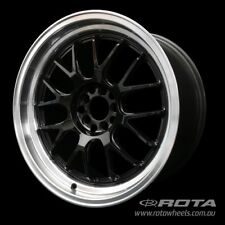 "18"" ROTA MXR-R 5/114.3 +20 Gloss Black WHEELS RIMS FORD, TOYOTA, HONDA"
