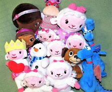 DOC McSTUFFINS Plush Lot SLEEPY TIME LAMBIE Stuffy Hallie CHILLY Disney Toys ++