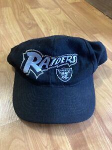 Vintage Raiders American Needle SnapBack Hat Cap Embroidered Logo Wool Like RARE