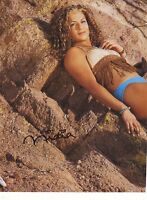 WWE WWF NIDIA SEXY AUTOGRAPHED HAND SIGNED 8X10 PHOTO WRESTLING PICTURE