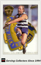 1996 Select AFL Trading Card Series 1 Medal Card MC2 Gary Ablett Snr. (Coleman)