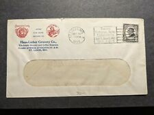 American Lady Coffee 1923 Ad Postal History Cover Haas-Lieber Co, St. Louis, Mo