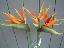 3 x Large Artificial Bird of Paradise Flowers