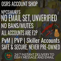 OldSchool Runescape OSRS account Pures PvM Pking Accs No Ban Safe No Email Set