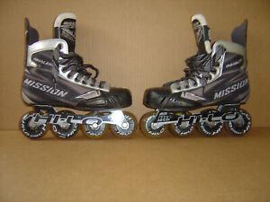 Mission Inhaler NLS6 Inline Roller Skates Size 5E, US Shoe Size 6