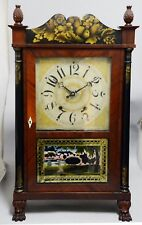 Extremely Rare Canadian Wood Works Short Shelf Clock, Moses Barrett, Yarmouth NS