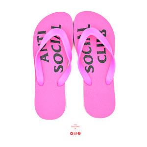 Anti Social Social Club Pink Slippers ASSP141 Men's Size 6-10