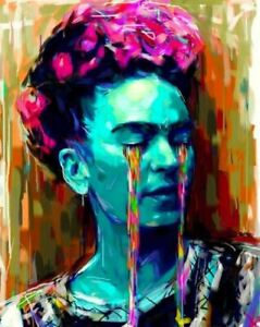 Frida Kahlo Abstract Art Poster 24 X 36