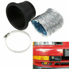 Car Front Bumper Turbo Air Intake Pipe Turbine Inlet Air Funnel Kit Round Black