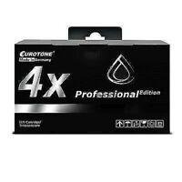 4x Eurotone Pro Cartridge Black For Epson Stylus CX-3500 C-84-CN C-84-PE C-65