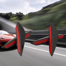 4X Universal-Fit Frontspoiler Lip Splitter Fins Körper Canard Chin Valence Neu