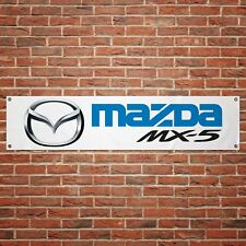 Mazda MX5 Banner Garage Workshop PVC Sign Trackside Motorsport Car Display Miata