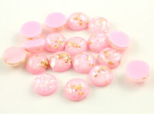 12mm Opaque Resin Cabochons | Glitter Foil Detail | Choice of 10 Colours | 40pcs