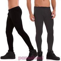 Leggings uomo pantaloni felpati caldi elasticizzati skinny aderenti nuovi LR-810