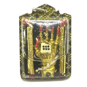 HAND OF GHOST IN OIL MAGIC TALISMAN GAMBLING LUCKY THAI AMULET PENDANT