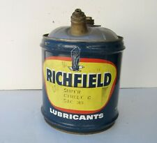 Richfield Lubricants 5-gallon oil can, Super Circle C SAE 30, circa 1967