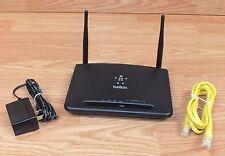 Genuine Belkin (F9K1010V2) N300 4 Port Internet Router With Power Supply *READ*