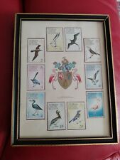 Turks & Caicos Islands - 1973 Unused Birds  Set of stamps - mounted and framed