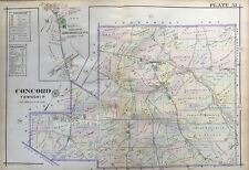 1913 DELAWARE COUNTY CONCORD TOWNSHIP PENNSYLVANIA, CONCORDVILLE ATLAS MAP
