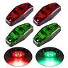4 x LED Light Red / Green Universal Clearance Side Marker Trailer Lights 12V-24V