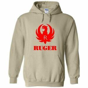 Ruger Red Logo Hoodie Sweatshirt 2nd Amendment Pro Gun Rights Rifle Pistol New