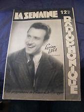 Die semaine radiophonique Lucien Lupi 1950