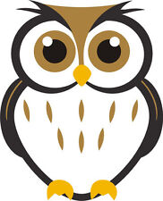 Con Dibujo De Búho icono Night Owl Bird Hoot Lindo Sticker Decal Gráfico Etiqueta De Vinilo
