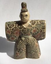 Vintage Chinese Japanese Hand Painted Engraved man outstretched Resin Figurine