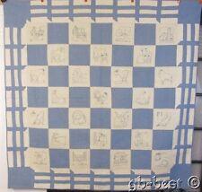 Stunning Dated 1931 Blue Work Farm House Vintage Quilt Ruby Mckim