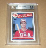 1985 Topps #401 Mark Mcgwire BGS 8.5 NM-MT+ Fast Shipping!