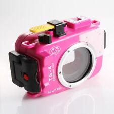 Pro 60M Waterproof Diving Underwater Housing Case Fr Olympus TG3 TG4 Camera Rose