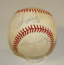 Wade Boggs/Johnny Pesky Signed OAL Bobby Brown Baseball PSA/DNA W15250 Red Sox