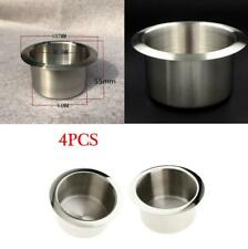 4PCS Stainless Steel Cup Drink Holder For Marine Boat RV Camper Auto 84x55mm kit