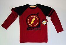 DC Comics The Flash Justice League Boys Long Sleeve Shirt Large Size 10-12 New