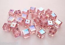 3  4 mm Swarovski 5601 Crystal Beads: Light Rose ABB