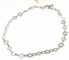 14Kw Gold Ankle Bracelet Anklet Round And Diamond Links