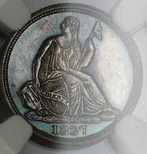 1837 Seated Liberty Silver Half Dime NGC MS-62 Very Choice BU Prooflike PL