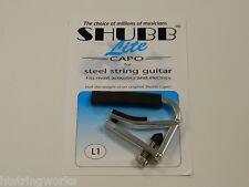 Shubb Lite  L1 Silver Guitar Capo Acoustic Electric  New  ~Free U.S. Shipping~