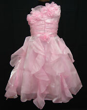 Flower Girl Party Bridesmaid Wedding Dress Pink White Red