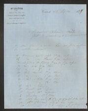 """CAEN (14) PORCELAINES , FAIENCES & CRISTAUX """"M. LELIEVRE"""" en 1877"""