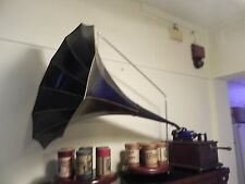 "Edison Cylinder Phonograph with 32"" morning glory horn"