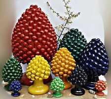 Pigna in ceramica di Caltagirone   laboratorio  artigianale Siciliana