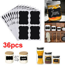 36pcs Chalk Chalkboard Blackboard Cup Jar Jam Label Wall Sticker Decal