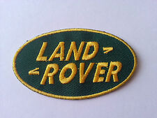 MOTORSPORTS MOTOR RACING CAR SEW / IRON ON PATCH:- LAND ROVER (a) GREEN OVAL