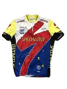 Vintage Specialized Jersey Mountain Bike Ned S-Works 92 World Champion Men's LG