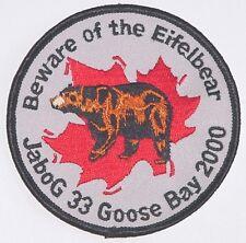 Luftwaffe Aufnäher Patch JaBoG 33 Gosse Bay 2000 Kanada .........A4409