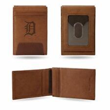 Detroit Tigers MLB Embossed Premium Brown Leather Front Pocket Money Clip Wallet