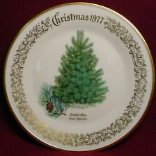 LENOX Christmas Tree Plate 1977 SCOTCH PINE - no box