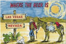 WHERE THE HECK IS LAS VEGAS NEVADA Postcard 1989 Collector Series UNUSED